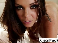 big tittie alison teases then makes herself cum on the bedPorn Videos