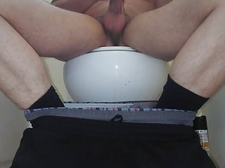 Jacking my cock in the bathroom