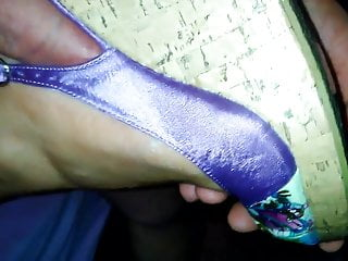 purple wedges heelsPorn Videos