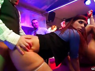 Hot pornstar clubbers fucks in public