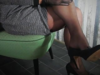 horny in stockings and new dress