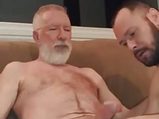 Sucking old guys big cock...