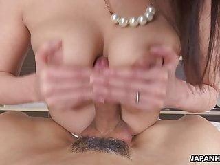 JAV housewife Asuka slurps penis in POV, uncensored