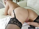 Busty blonde Alena gets a huge cock, deep inside her pussy