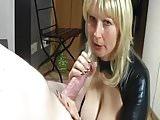 German Blonde Mommy Sucking