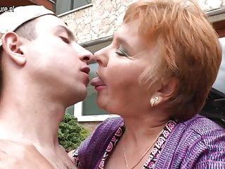 Old granny fucks her toy boy