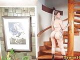 Bigbooty latina tranny showing her big ass