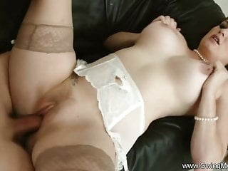 Big tit amateur swinging wifey just to arouse...