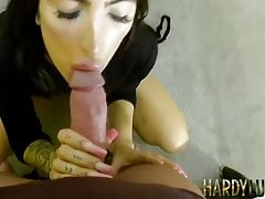 Attractive Talia swallows monster cock before being ravaged