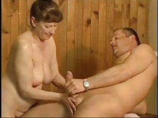 in Sauna Granny Fucked German Lovely