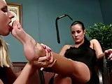 beauty mistress use lesbian foot slave