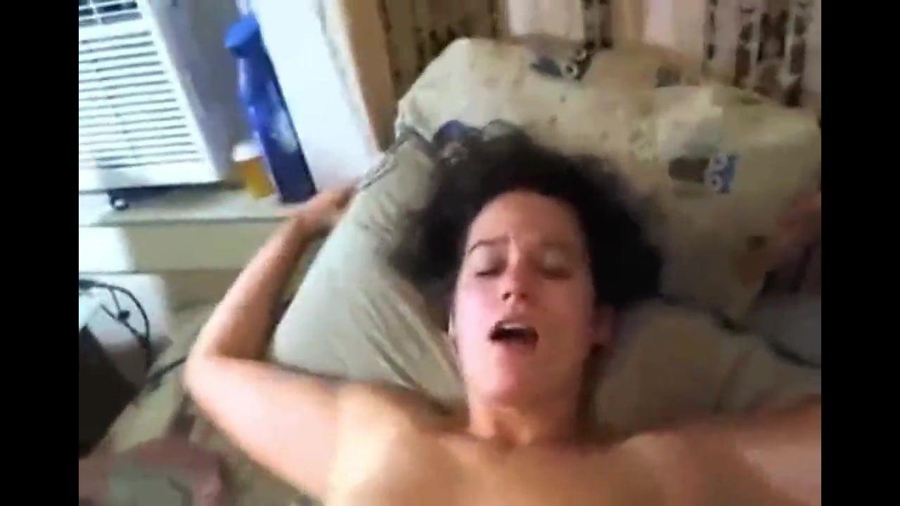 Big Tits Woman Fucks Herself to Her Husband's Friend