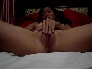 Hot brunette for her hubby...