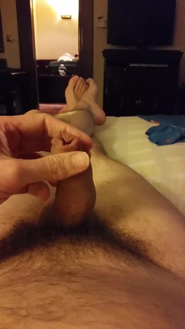 Empaled on dildo
