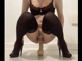 Big Dildo for Sissy Janine