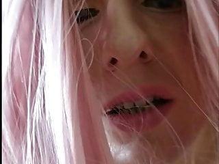Pink wig transvestite fucked hard...