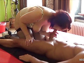 Dirty mother rimjob young step son...
