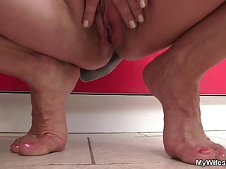 Wife comes in and sees her BF fucks her old mom