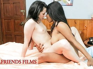 Younger Lesbian Teenagers Flirt, Tease & Have Sensual Intercourse