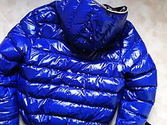Spit on blue shiny Duvetica Jacket