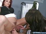 Alektra Blue and Monique Alexander share cock