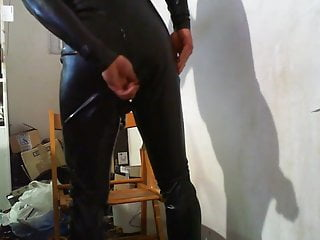 Suit gas mask popper and ass master plug...