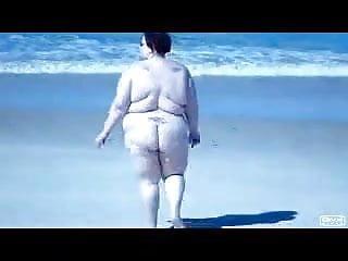 Walking on beach...