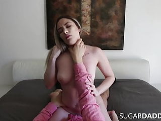 Materialistic latina with fucked for gifts by daddy...
