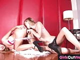 Cute lesbian teenie licked and rimmed