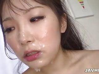 Doggy pounding and warm thick creampie for Yuro Sakurai