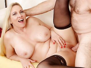 Passionate mature big tits grandma cala craves...
