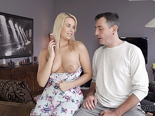 BF's Dream her dad Beautiful Nikki pussy gives DADDY4K