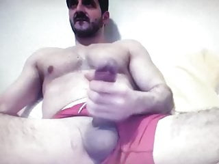 Bearded straight muscle daddy huge hung...