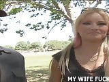 Watch your wife Barbie taking a strangers big cock