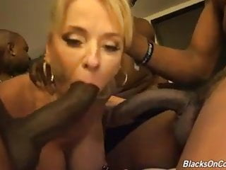 Granny fucked by blacks and creampied into her...