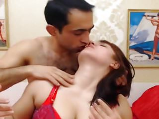 Hot busty babe fucked by her mature partner...