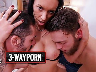 3 way porn anal dp squirting threesomes...