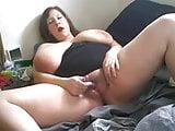 BBW girl masturbate in front of cam
