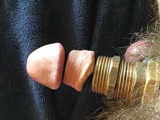 Steampunk cock masturbation
