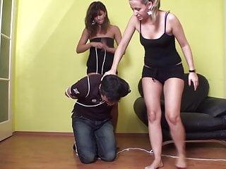 Cindy and Melady tyrannized slave Richie