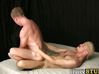 Blows dick with virility before breeding...