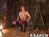 Krakenhot - Obedient Culturist woman in a BDSM casting