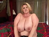 Big breasted mature BBW mother getting naughty