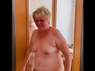 Granny katharina undresses...
