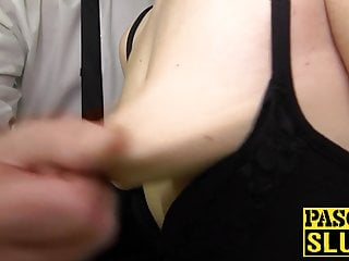 Tied deepthroated up ass Pascal fucked and roughly by slut