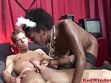 Ebony redlight hooker loves a big dick