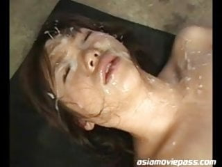 Bukkake facial model Mai Nadasaka recieves creampie dasd-071