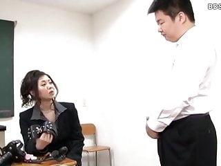 Asian femdom cuckold strapon sex...