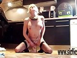 Insanely hard and deep XXL dildo fucking orgasms