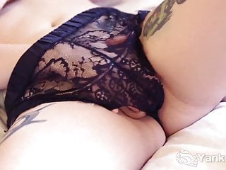 Yanks Kitty du Jour – Black Lace and Big Boobs
